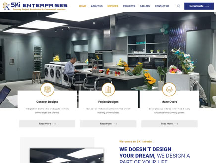 Interior Designing website development